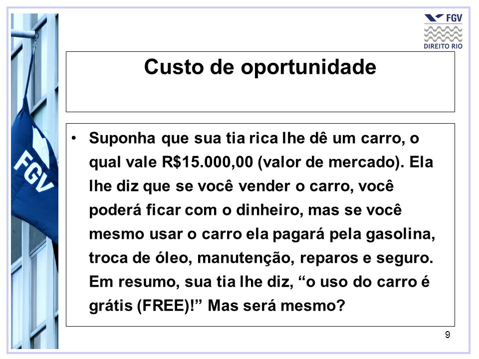 Custo de oportunidade