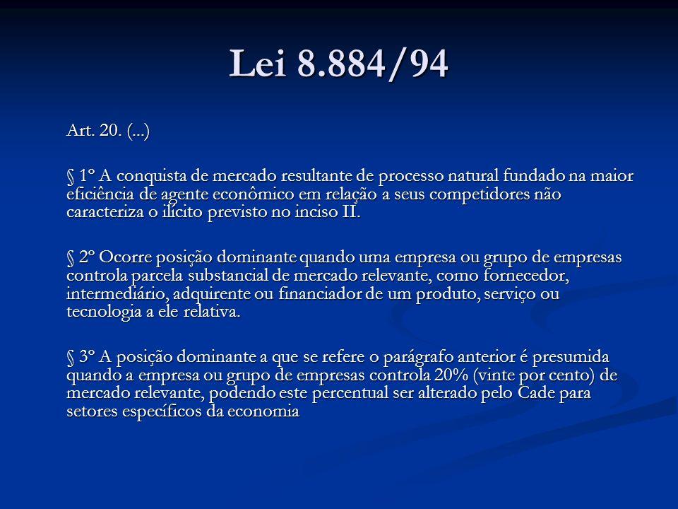 Lei 8.884/94Art. 20. (...)