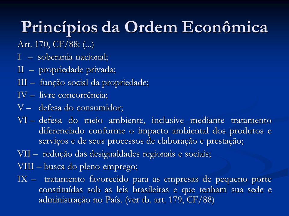 Princípios da Ordem Econômica