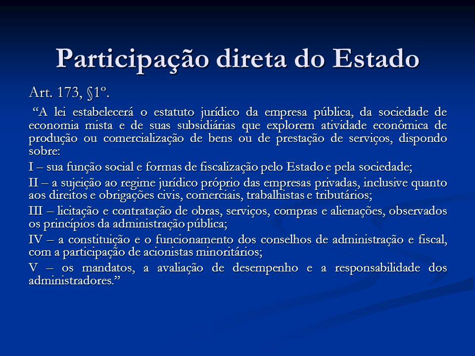 Participação direta do Estado