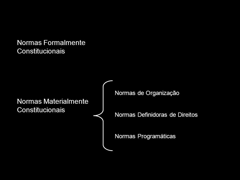 Normas Formalmente Constitucionais Normas Materialmente