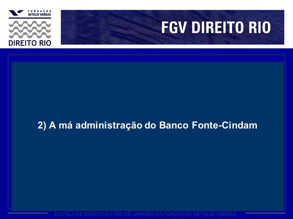 2) A má administração do Banco Fonte-Cindam