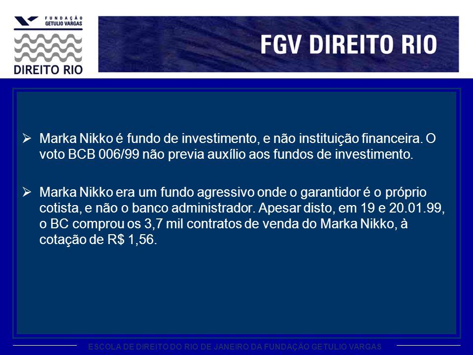 Marka Nikko é fundo de investimento, e não instituição financeira