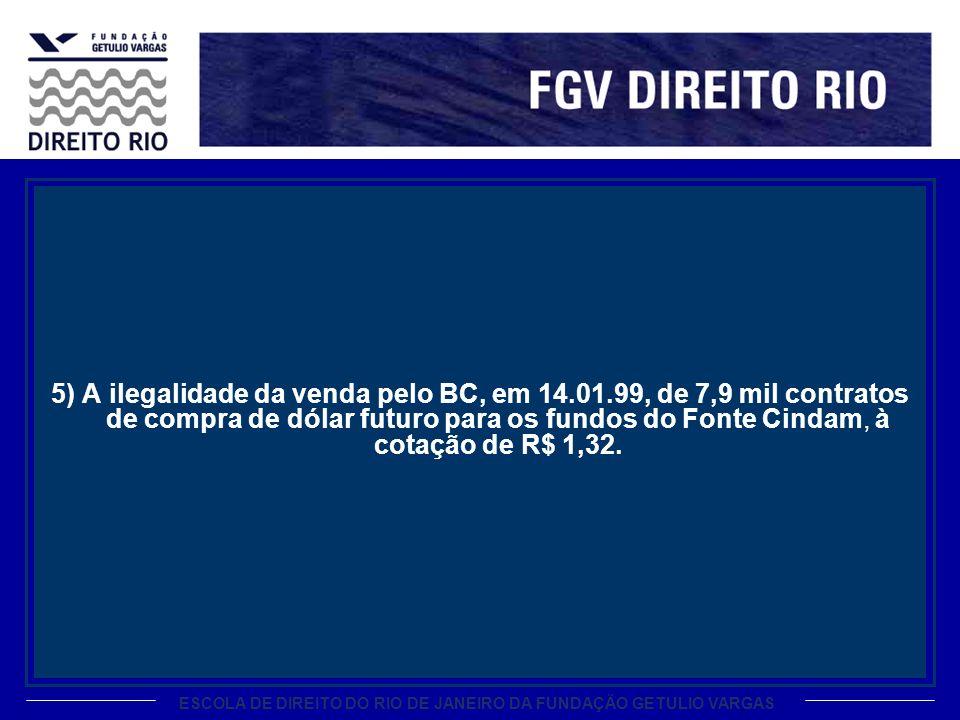 5) A ilegalidade da venda pelo BC, em 14. 01