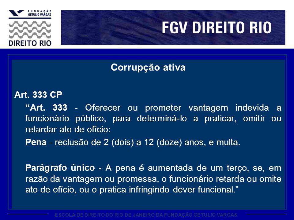 Corrupção ativa Art. 333 CP.