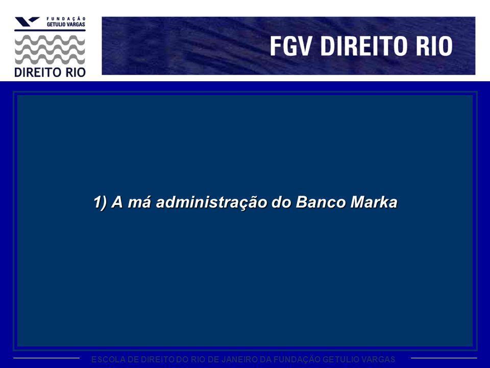 1) A má administração do Banco Marka