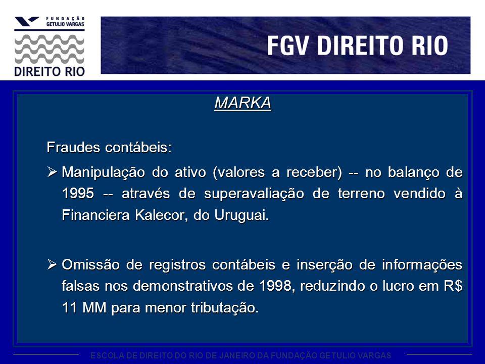 MARKA Fraudes contábeis: