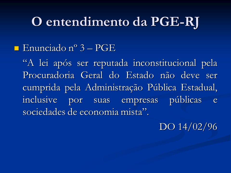 O entendimento da PGE-RJ