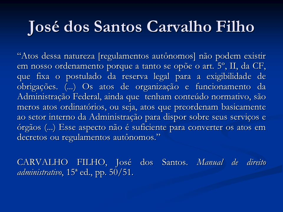 José dos Santos Carvalho Filho