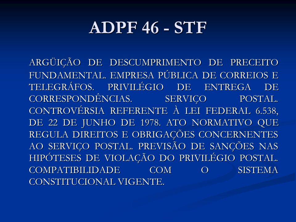 ADPF 46 - STF