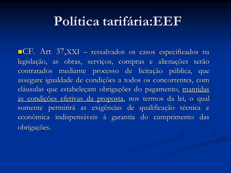 Política tarifária:EEF