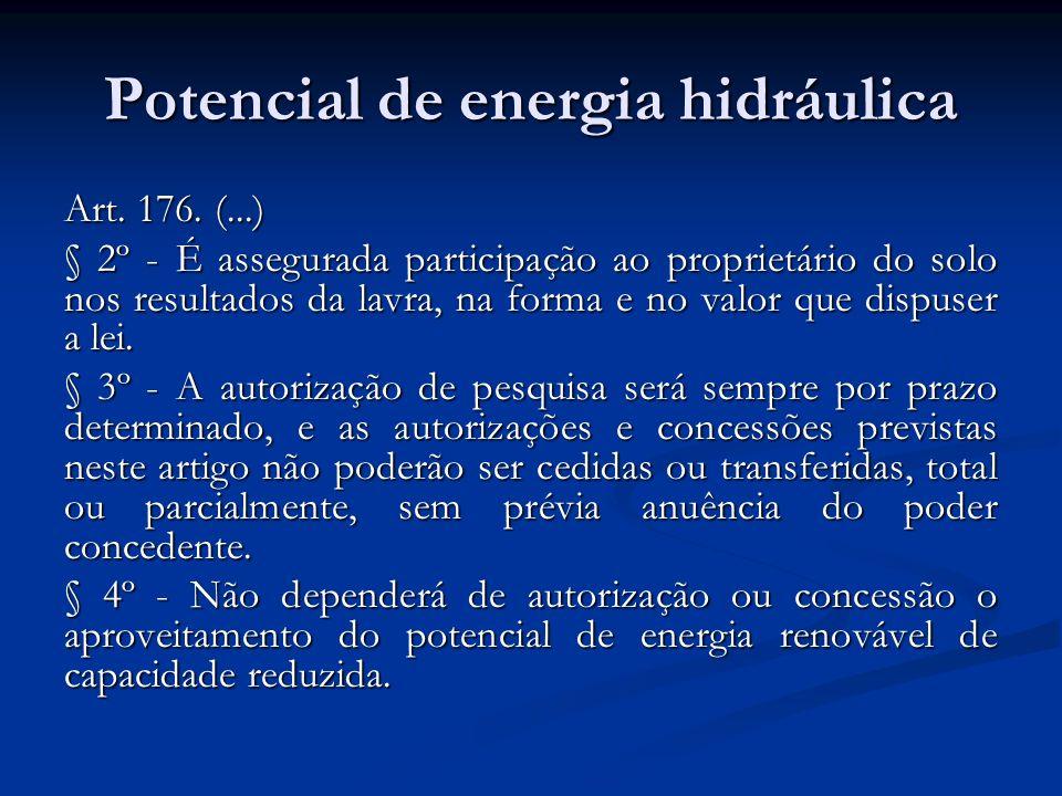 Potencial de energia hidráulica