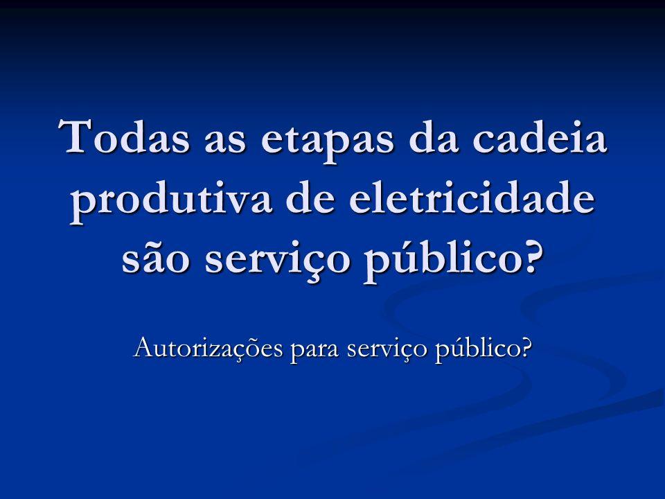 Autorizações para serviço público