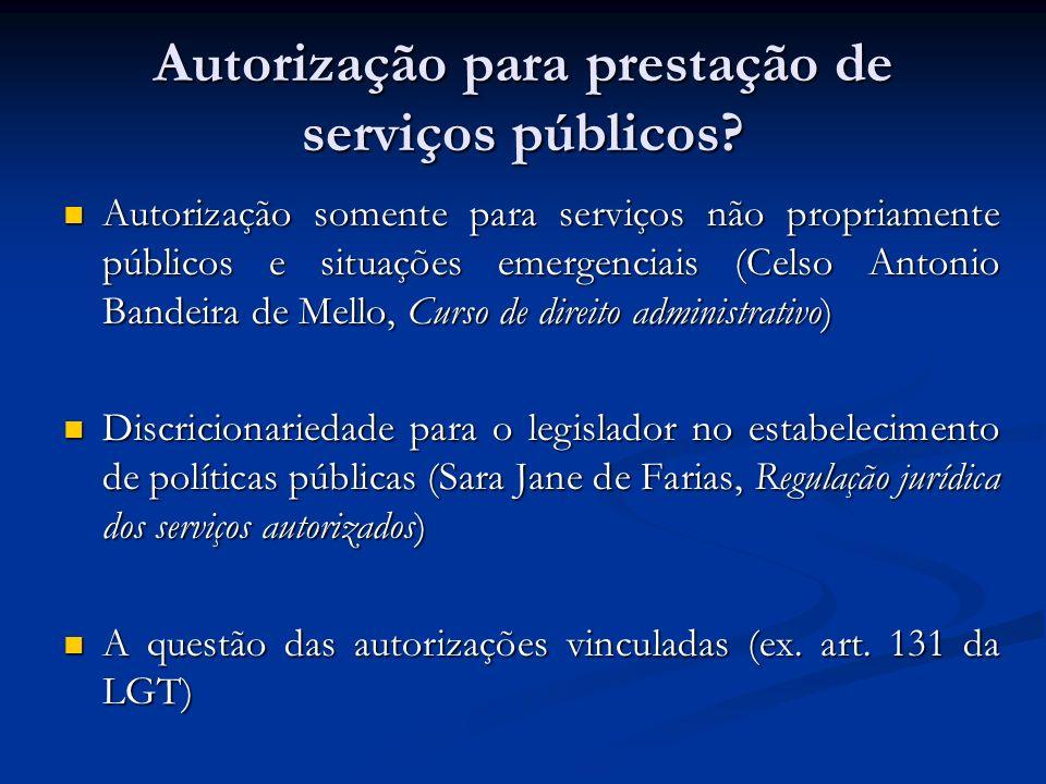 Autorização para prestação de serviços públicos