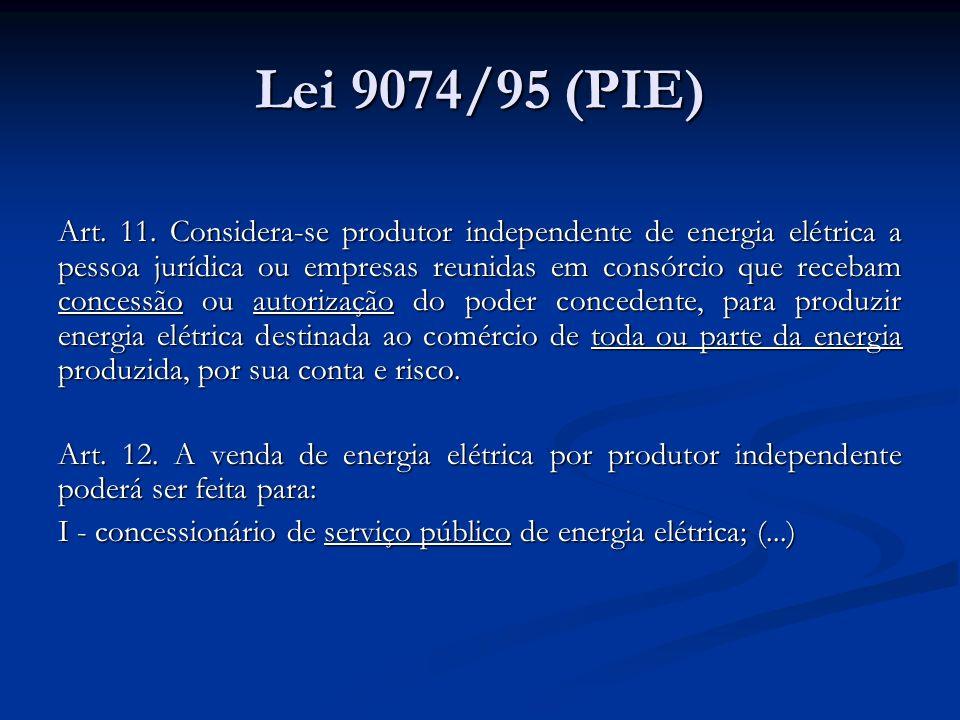 Lei 9074/95 (PIE)