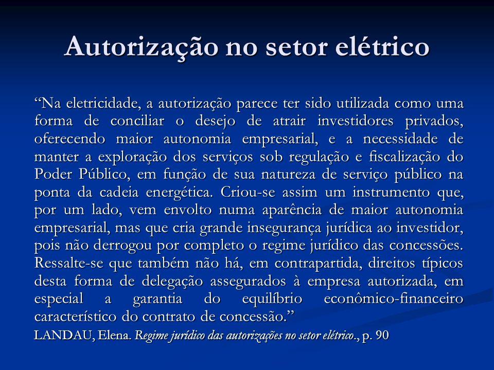 Autorização no setor elétrico
