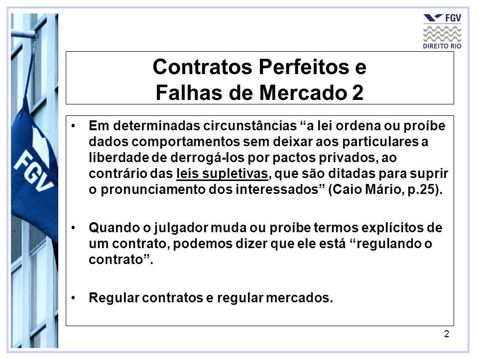 Contratos Perfeitos e Falhas de Mercado 2