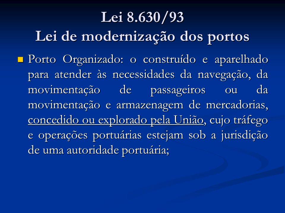 Lei 8.630/93 Lei de modernização dos portos