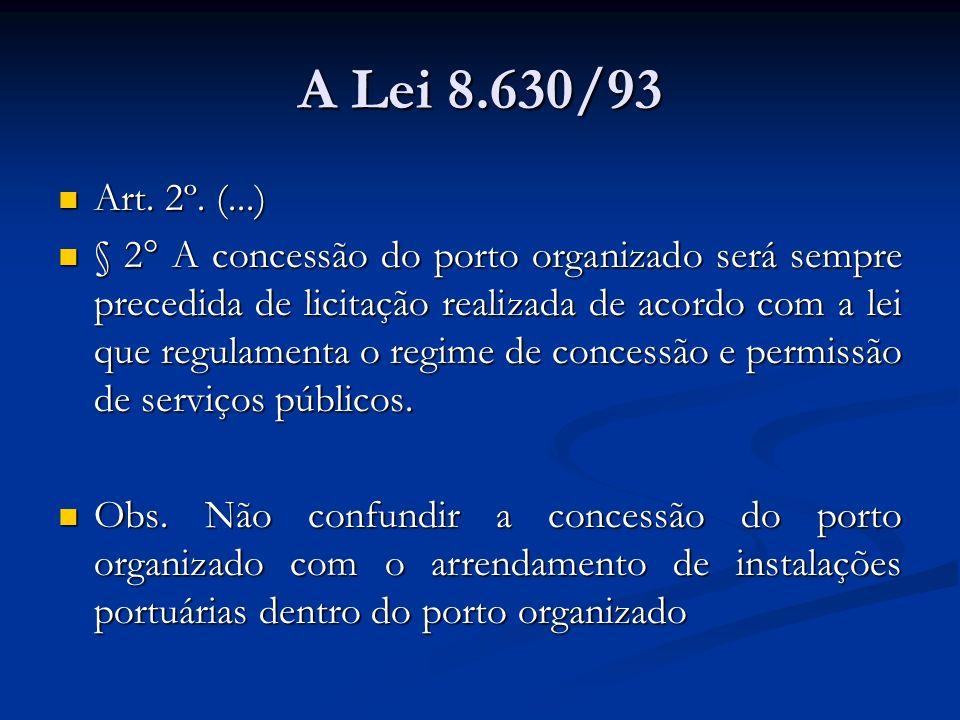 A Lei 8.630/93 Art. 2º. (...)