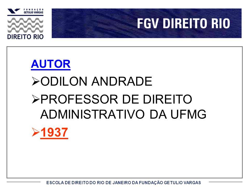PROFESSOR DE DIREITO ADMINISTRATIVO DA UFMG 1937