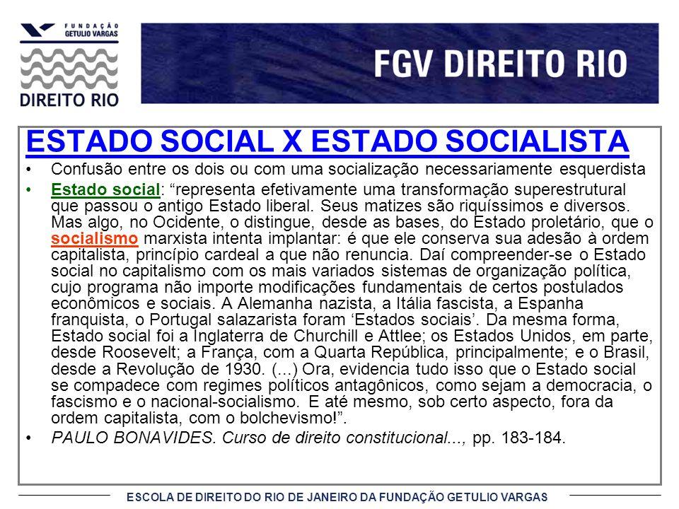 ESTADO SOCIAL X ESTADO SOCIALISTA