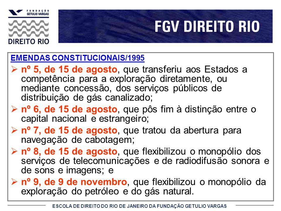 EMENDAS CONSTITUCIONAIS/1995