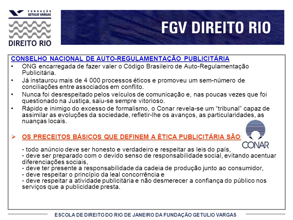 CONSELHO NACIONAL DE AUTO-REGULAMENTAÇÃO PUBLICITÁRIA