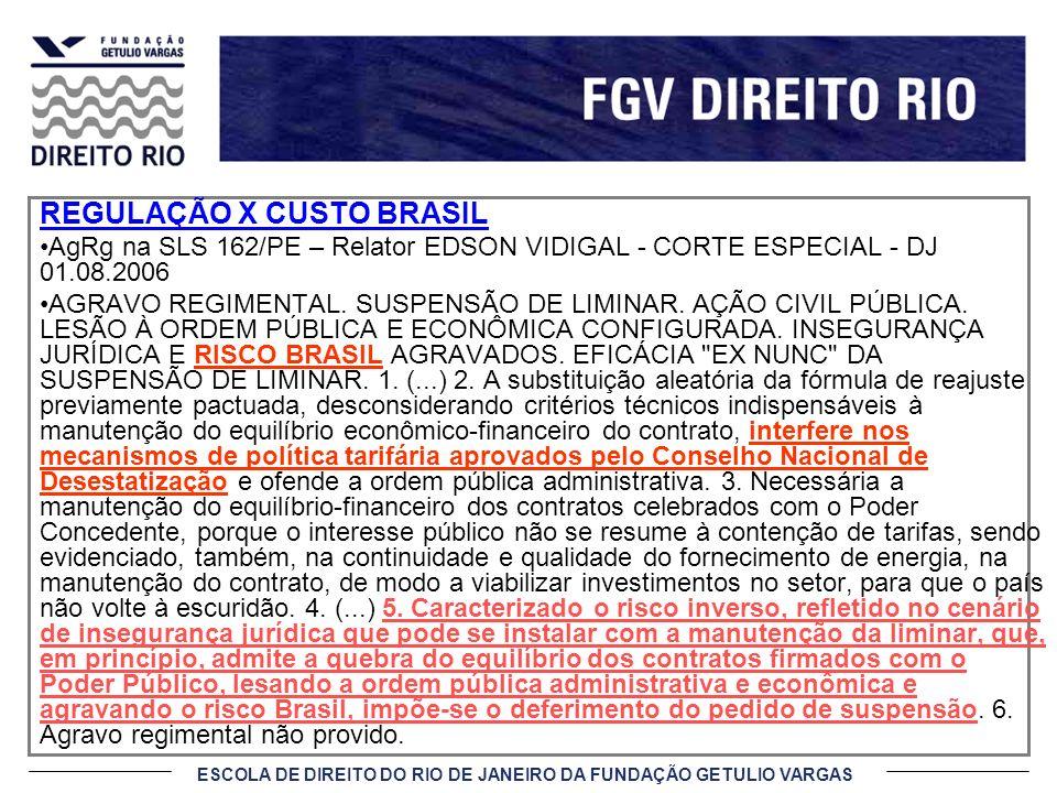 REGULAÇÃO X CUSTO BRASIL