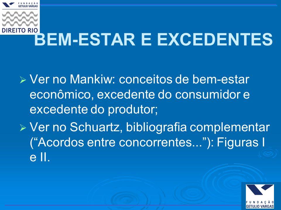 BEM-ESTAR E EXCEDENTES