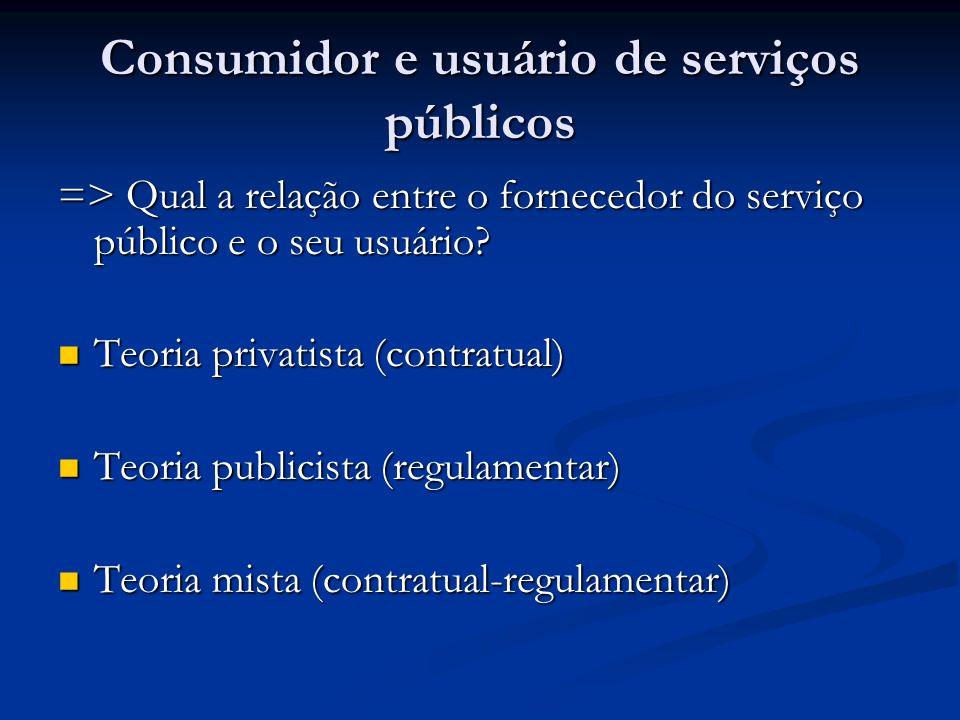 Consumidor e usuário de serviços públicos