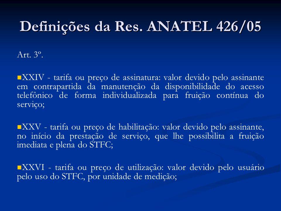 Definições da Res. ANATEL 426/05