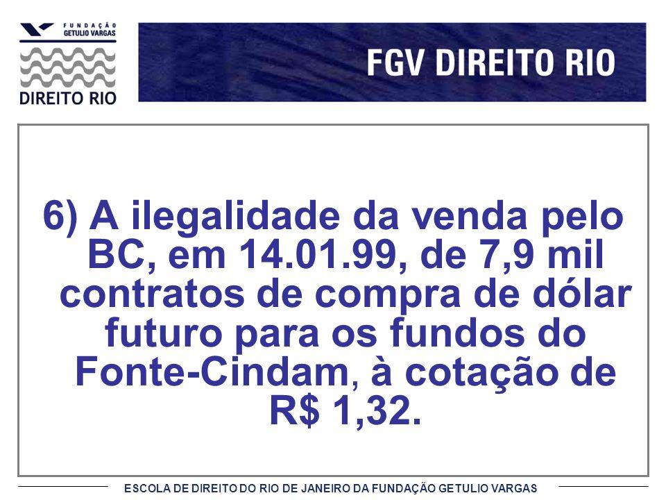 6) A ilegalidade da venda pelo BC, em 14. 01