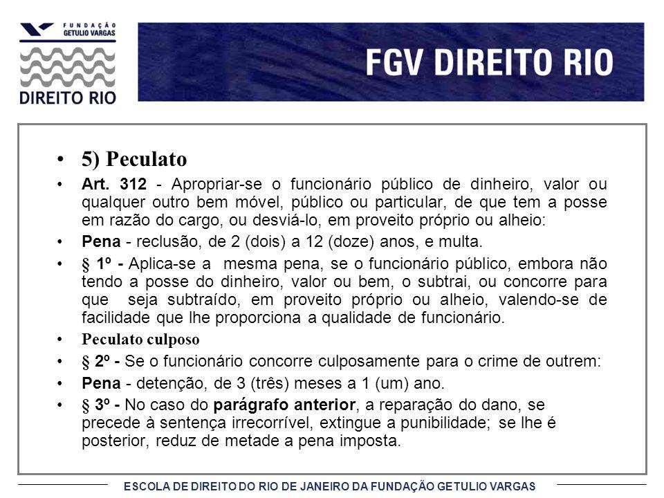 5) Peculato