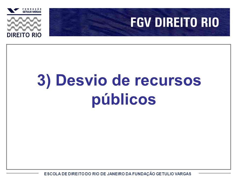 3) Desvio de recursos públicos