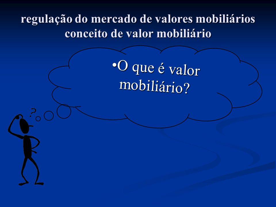 O que é valor mobiliário