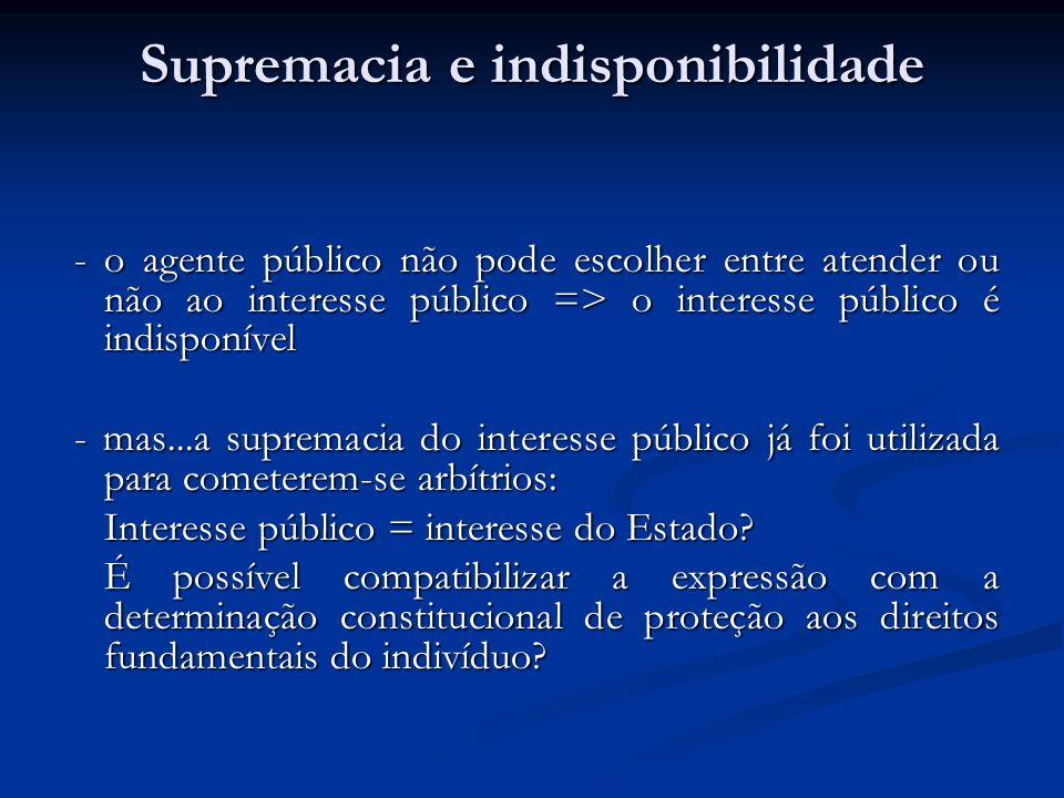 Supremacia e indisponibilidade