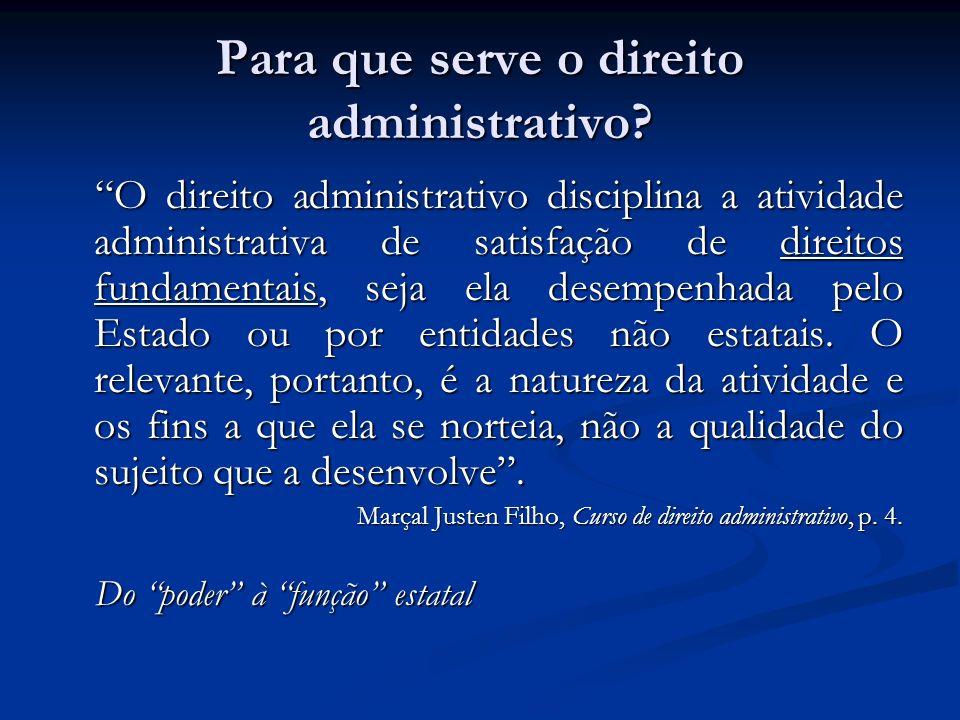 Para que serve o direito administrativo