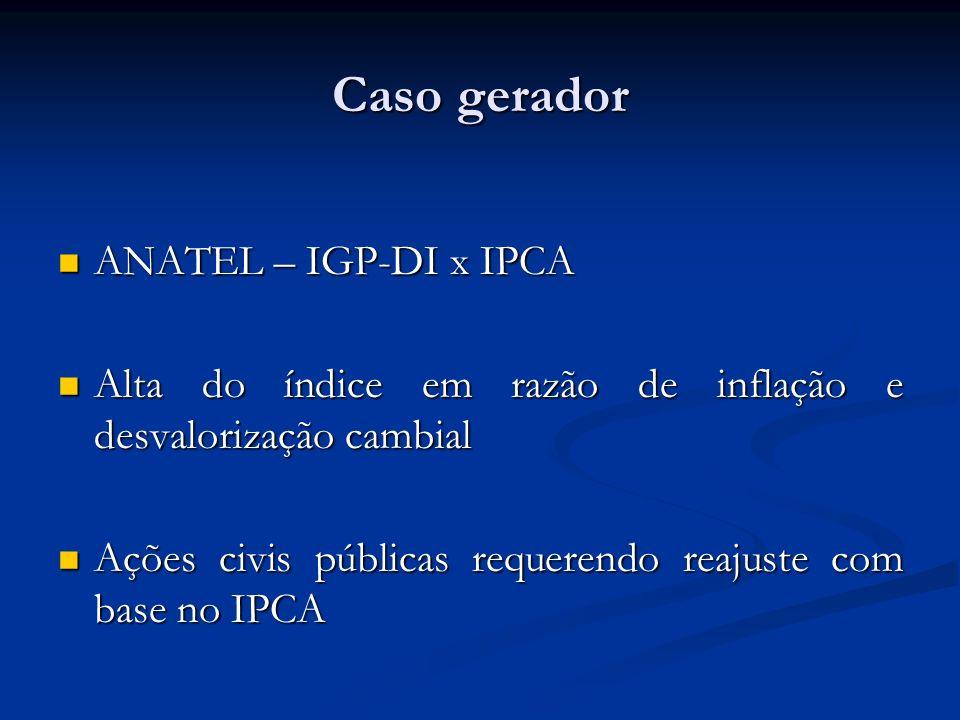 Caso gerador ANATEL – IGP-DI x IPCA