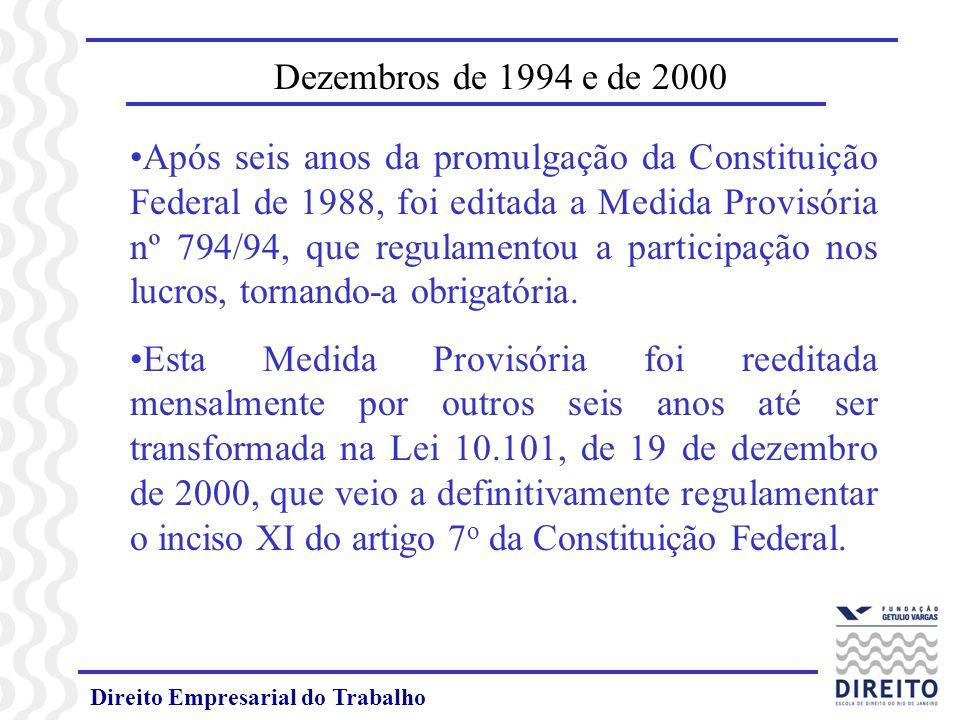 Dezembros de 1994 e de 2000