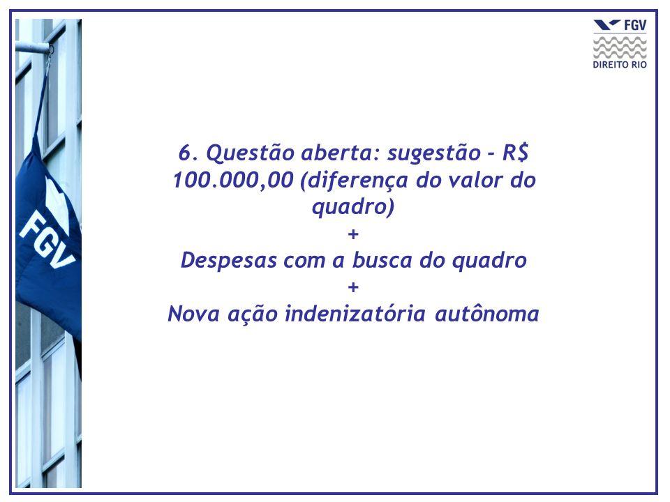 Despesas com a busca do quadro Nova ação indenizatória autônoma