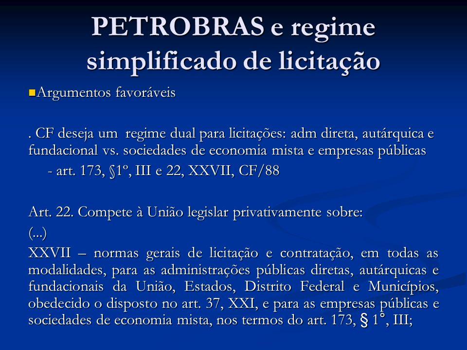 PETROBRAS e regime simplificado de licitação