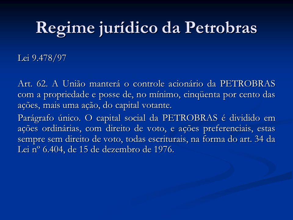 Regime jurídico da Petrobras