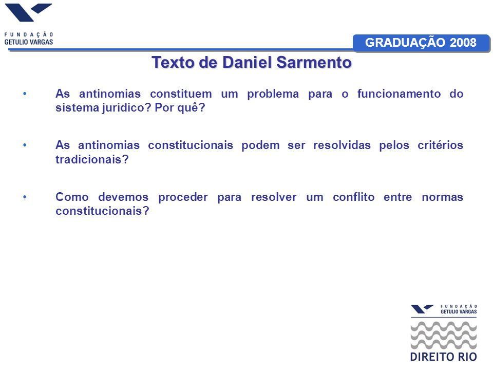 Texto de Daniel Sarmento