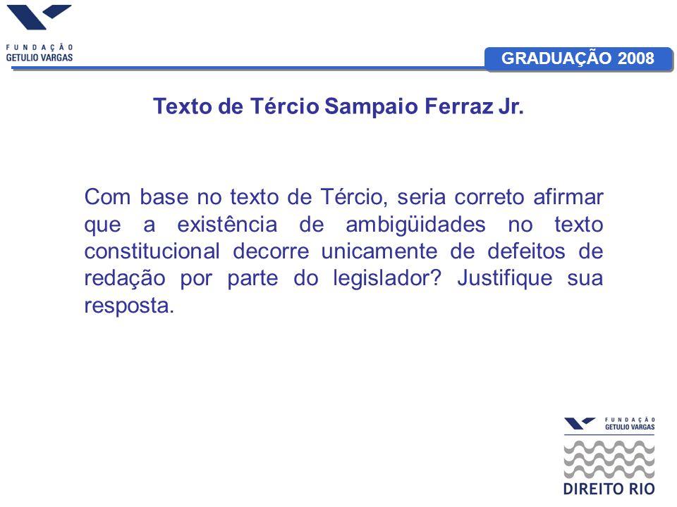 Texto de Tércio Sampaio Ferraz Jr.