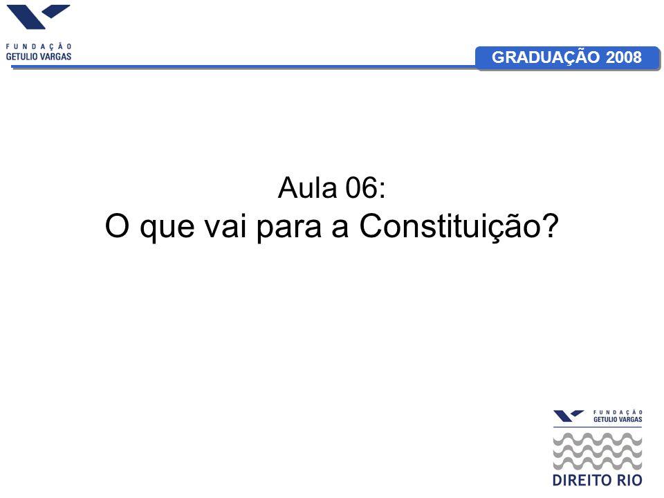 Aula 06: O que vai para a Constituição