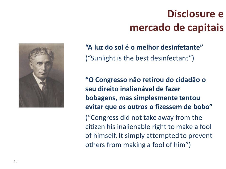 Disclosure e mercado de capitais
