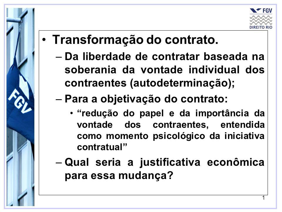 Transformação do contrato.