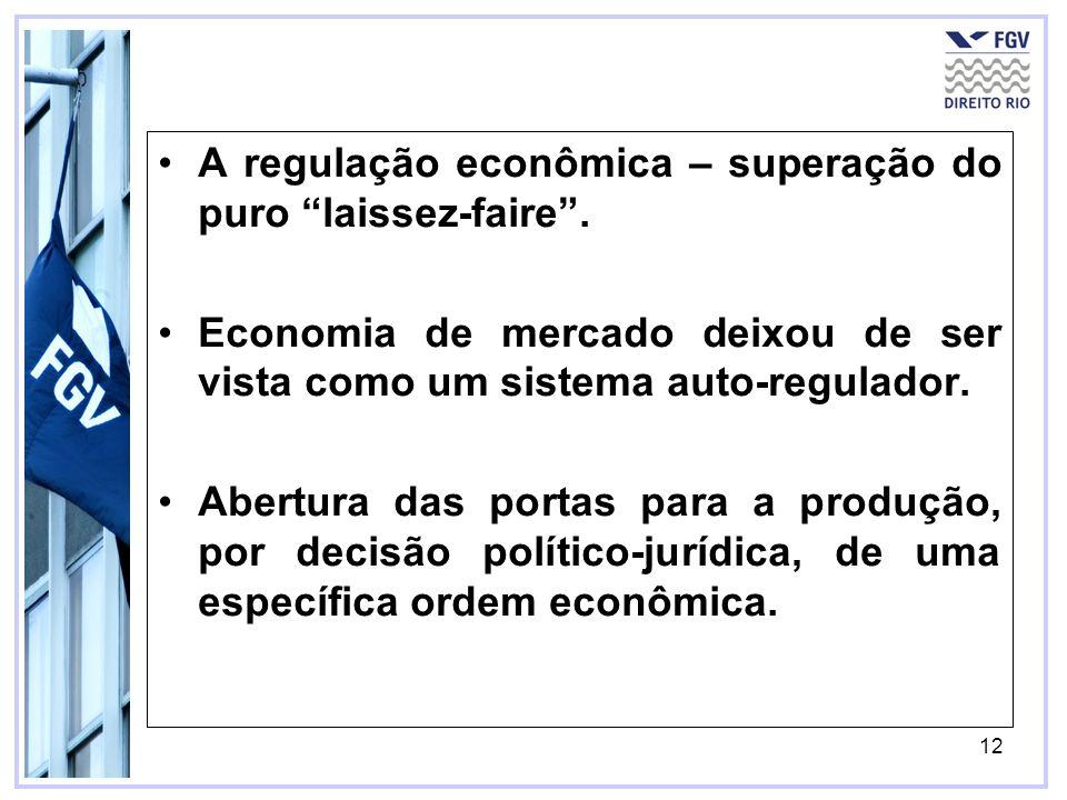 A regulação econômica – superação do puro laissez-faire .