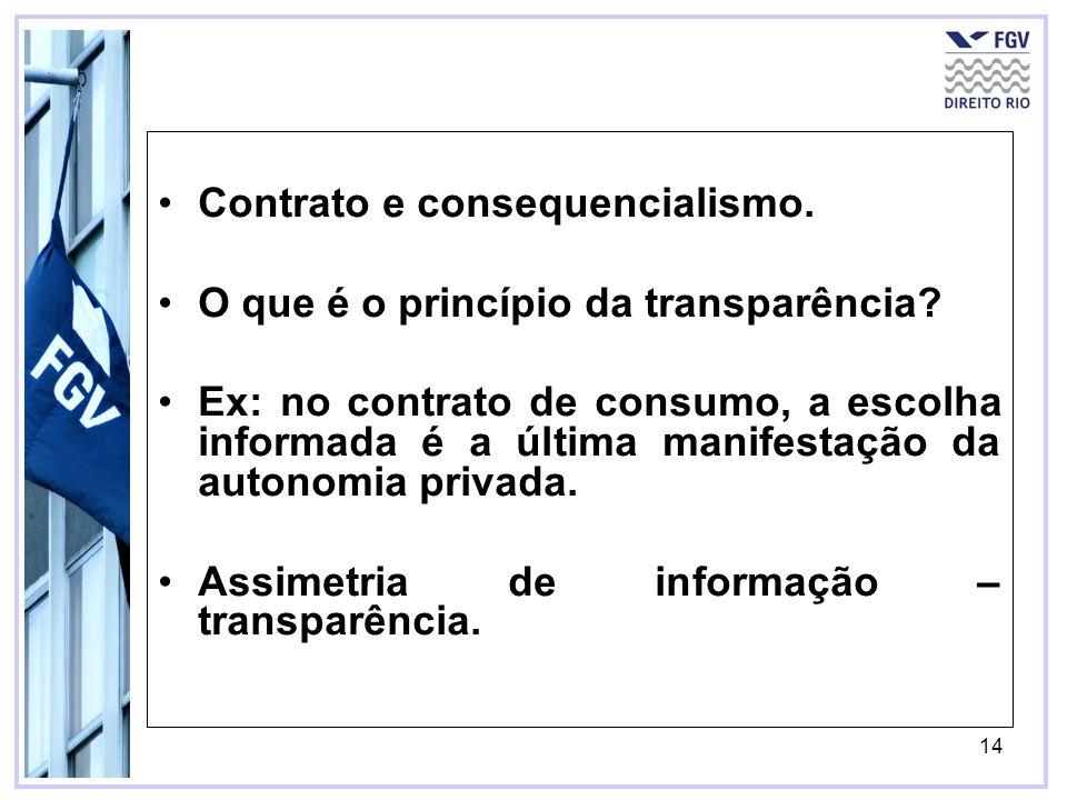 Contrato e consequencialismo.