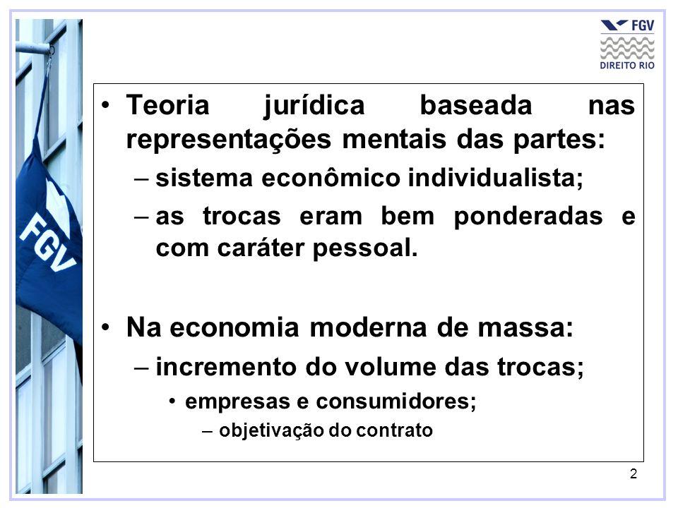 Teoria jurídica baseada nas representações mentais das partes:
